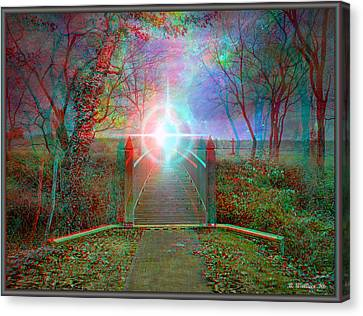Towards The Light - Use Red-cyan 3d Glasses Canvas Print by Brian Wallace