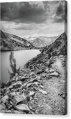 Canvas Print featuring the photograph Towards The Silver Divide by Alexander Kunz