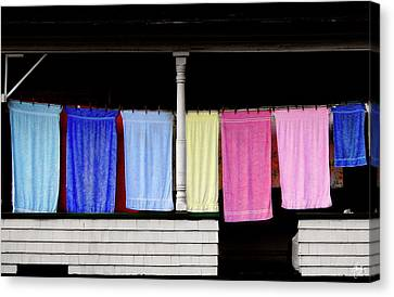 Canvas Print featuring the photograph Towel Line Stark New Hampshire by Wayne King