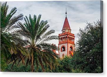 Tower At Flagler College Canvas Print by Rob Sellers