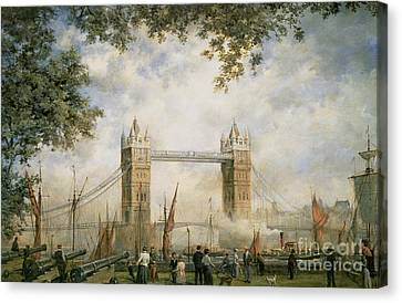 Tower Of London Canvas Print - Tower Bridge - From The Tower Of London by Richard Willis