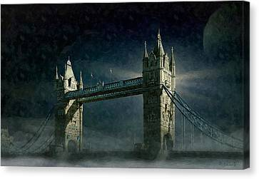 Tower Bridge In Moonlight Canvas Print