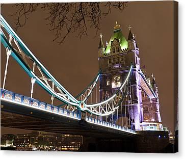 Tower Bridge Lights Canvas Print by Rae Tucker
