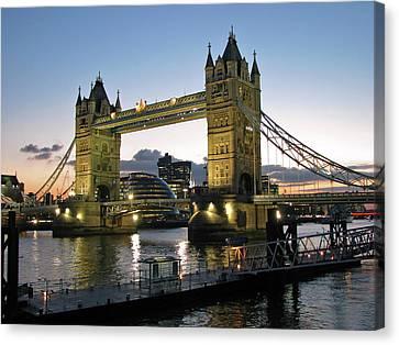 Tower Bridge, London Canvas Print by Anik Messier