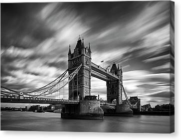 Tower Bridge, River Thames, London, England, Uk Canvas Print by Jason Friend Photography Ltd