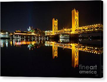 Tower Bridge Sacramento Canvas Print