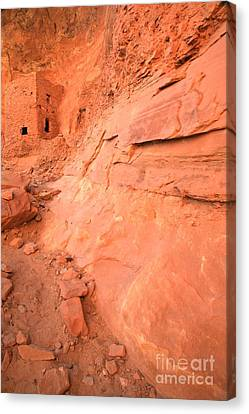 Tower House Ruin Portrait Canvas Print by Adam Jewell