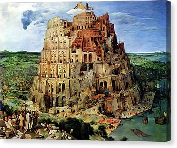 Tower Of Babel Canvas Print