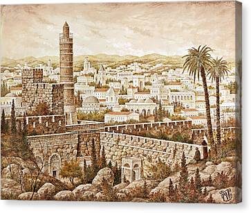 Tower Of David Canvas Print
