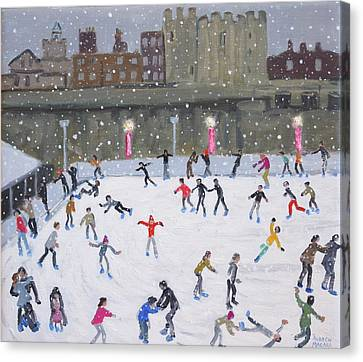 Tower Of London Ice Rink Canvas Print