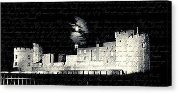 Tower Of London With Letter From Anne Boleyn Canvas Print