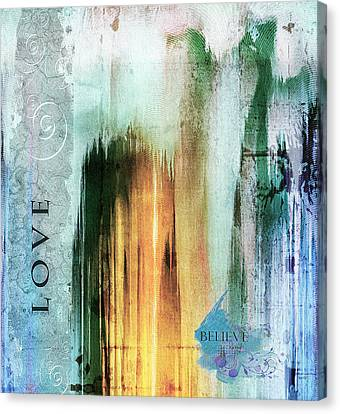 Tower Of Love Abstract Canvas Print