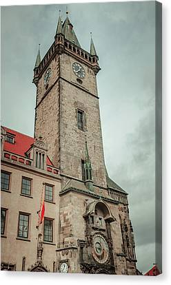 Canvas Print featuring the photograph Tower Of Old Town Hall In Prague by Jenny Rainbow