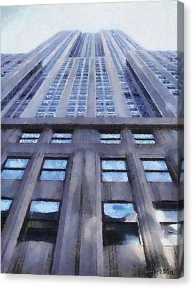 Tower Of Steel And Stone Canvas Print by Jeff Kolker