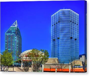 Tower Place 100 Buckhead Atlanta Art Canvas Print by Reid Callaway