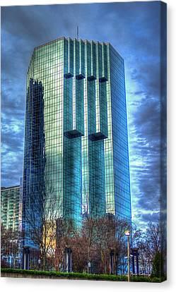 Tower Place Dawn Buckhead Atlanta Office Tower Art Canvas Print by Reid Callaway