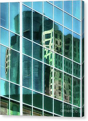 Tower Reflections # 3 Canvas Print by Mel Steinhauer