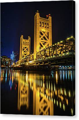 Tower Reflections Canvas Print by Alpha Wanderlust
