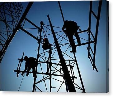 Tower Tech Canvas Print by Robert Geary