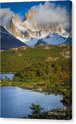 Andes Canvas Print - Towering Giant by Inge Johnsson