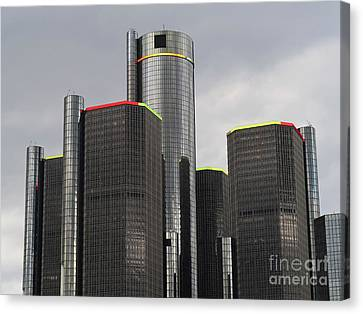 Towering Over Detroit Canvas Print