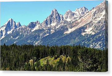 Towering Teton Range  Canvas Print