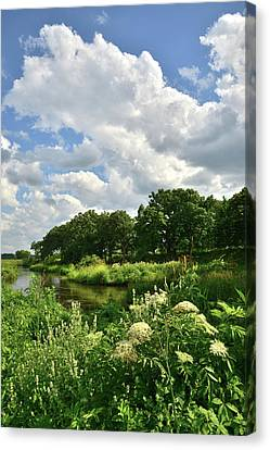Towering Thunderheads Over Nippersink Creek Canvas Print