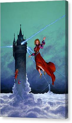 Towers Of Darkover Canvas Print by Richard Hescox
