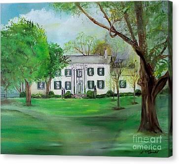Town And Country Farm Lexington Canvas Print by Lynda McDonald