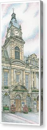 Town Hall Clock Kendal Cumbria Canvas Print by Sandra Moore