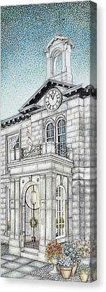 Town Hall Clock Kirkby Lonsdale Cumbria Canvas Print by Sandra Moore