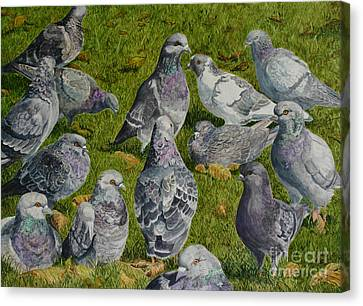 Town Hall Meeting Canvas Print by Helen Shideler
