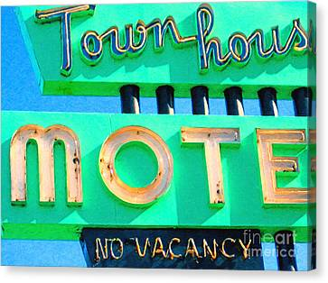 Town House Motel . No Vacancy Canvas Print by Wingsdomain Art and Photography