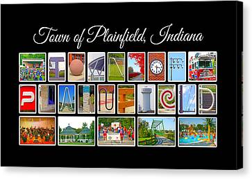 Town Of Plainfield Indiana Canvas Print by Dave Lee