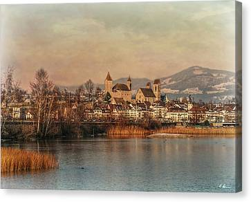 Canvas Print featuring the photograph Town Of Roses by Hanny Heim