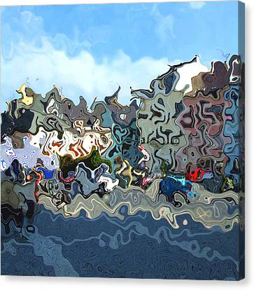 Town Canvas Print by Viktor Lebeda