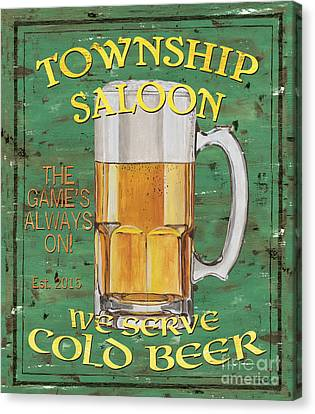 Township Saloon Canvas Print by Debbie DeWitt