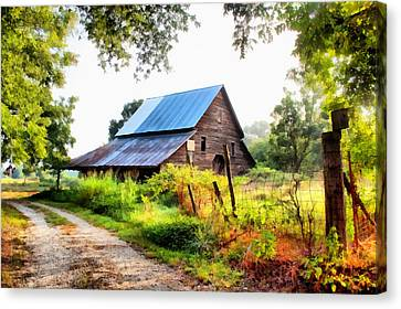 Townville Barn Canvas Print