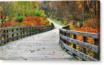 Towpath In Summit County Ohio Canvas Print by Kristin Elmquist