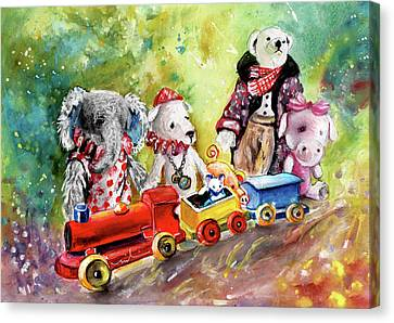 Toy Circus In Whitby Canvas Print by Miki De Goodaboom