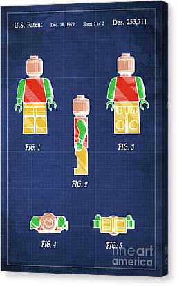 Toy Figure Patent Year 1979 Canvas Print by Pablo Franchi