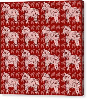 Toy Horse Pattern Canvas Print by Frank Tschakert