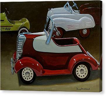 Toy Pedal Cars Canvas Print by Doug Strickland