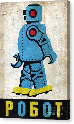 Toy Robot Russia Canvas Print by Luca Oleastri