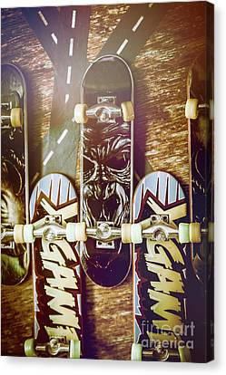 Toy Skateboards Canvas Print