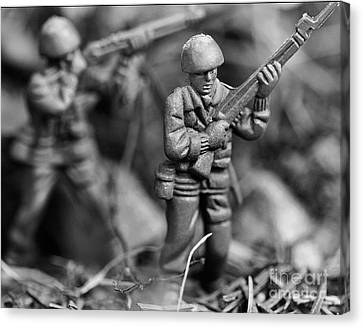 Toy Soldiers Canvas Print by Randy Steele
