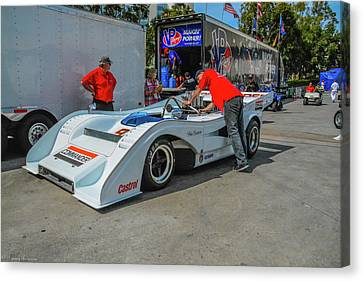 Toyota Grand Prix Pit Canvas Print by Tommy Anderson