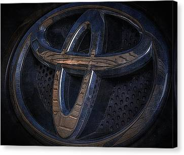 Toyota Rav 4 Emblem Canvas Print by Larry Helms