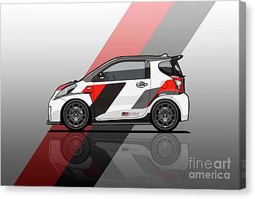 Toyota Scion Grmn Iq Racing Concept Canvas Print by Monkey Crisis On Mars