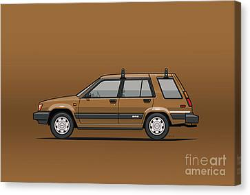 Toyota Tercel Sr5 4wd Wagon Al25 Bronze Canvas Print by Monkey Crisis On Mars